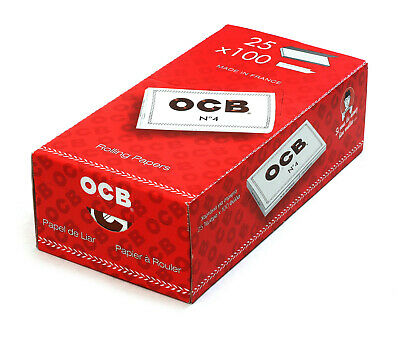 1 box Rolling Cigarette paper OCB No 4 Double x 25 booklets (total 2500 papers)