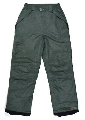 Pulse Green Insulated Ski Snow Board Pants Cargo Pocket Camp Winter Womens M