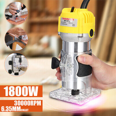 """MECO 1/4""""1800W Electric Hand Trimmer Wood Laminator Router Joiners Tool"""