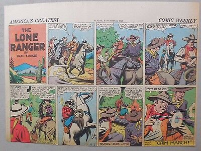 Lone Ranger Sunday Page by Fran Striker and Charles Flanders from 11/2/1941