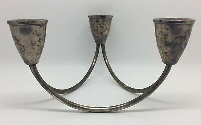 DUCHIN CREATION Danish Modern Weighted Sterling Silver Candle Holder (RF529)