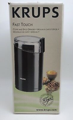 Krups Fast Touch Coffee Spice Nut Grinder Electric 3 Oz. Black, 200W (RF677)