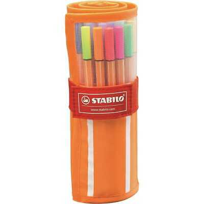 Rotuladores STABILO Point 88 Fineliner Rollerset, Estuche x30 Colores