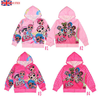 LOL Surprise Girl Doll Jacket Zip Hoodie Overshirt Sweatshirt Costume Fancy Coat