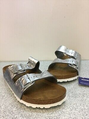 b617f443ad2e Birkenstock Arizona BS Spectral Silver Buckle Slide Sandals Men s Size 43