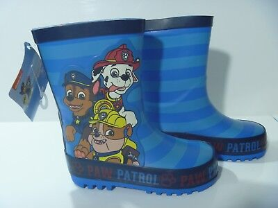 Official Paw Patrol Wellies Character Wellington Boots Boys Girls New Uk Size 4