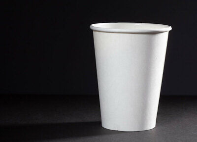 1000 7oz Compostable Cups PLA Single Wall White Paper Cups for Hot /Cold Drinks