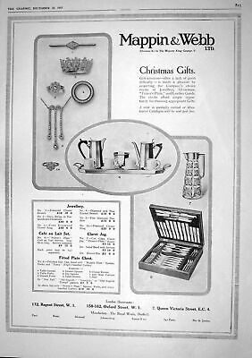 Old 1917 Advertisement Mappin Webb Christmas Gifts Royal Works Sheffi 20th