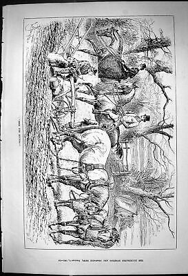 Old 1882 Farming Agriculture Horses Plough Hunting Huntsmen Sport Swa Victorian