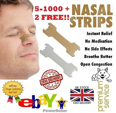 5-1000* Nasal Nose Sleep strips better breathe Stop Snoring Breath Easier UK 3PP