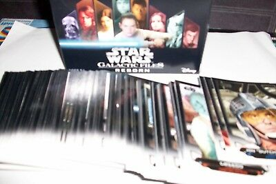 Star Wars Galactic Files Reborn : Lot De 164 Cartes Differentes