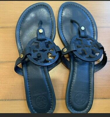 c53e50bd0 NIB TORY BURCH Patent Leather Miller Sandal Chambray Blue Octagon ...