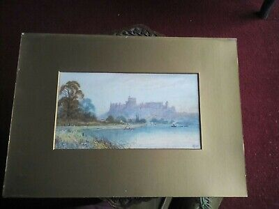 Original Victorian Watercolour Of Windsor Castle, Signed By Allan.