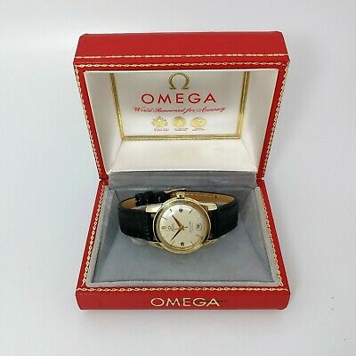Rare Omega 14K GOLD Seamaster Automatic Calendar 1950's Vintage Estate Watch