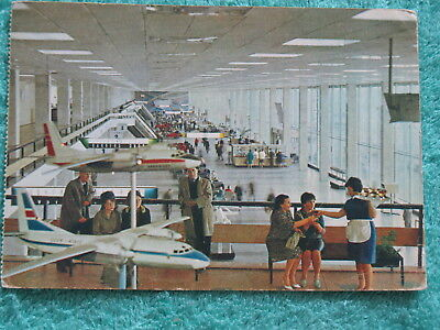 POST CARD Aeroflot AIR Port LINER Plane Ways pc Terminal Moscow Craft Model Fly