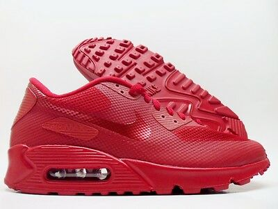 NEW NIKE ID Air Max 90 Hyperfuse Solar Red Wmns Sz 6. U.S