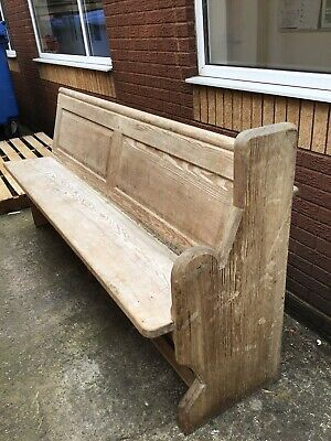 Lovely Long Antique Pitch Pine Pew