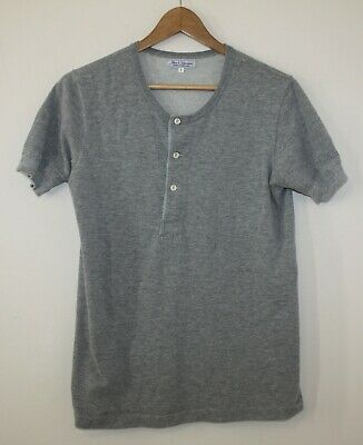 f0ccef24 Merz B Schwanen Ringspun Loopwheel Heather Grey Henley Shirt Sz 5 Small  Germany