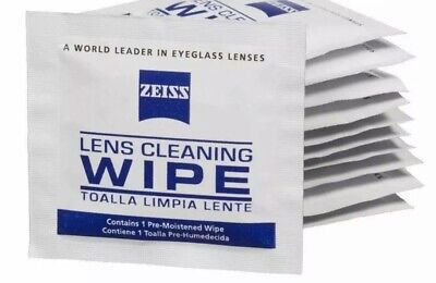Zeiss Pre-Moistened Lens Cleaning Wipes, 550 Count New