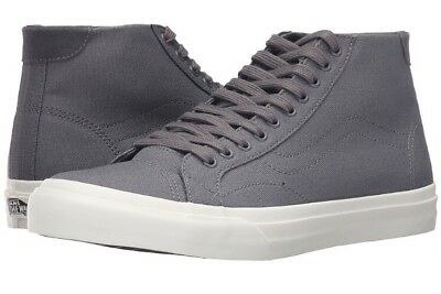 1fb546d0ce New Vans Mens 7.5 Womens 9 Court Mid Canvas Tornado Gray Skate Shoes  Sneakers