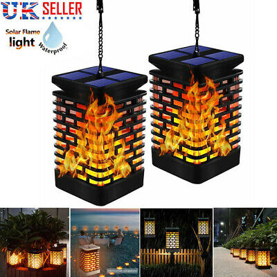 4 Pack 99 LED Waterproof Flickering Flame Solar Torch Light Garden Lamp Outdoor