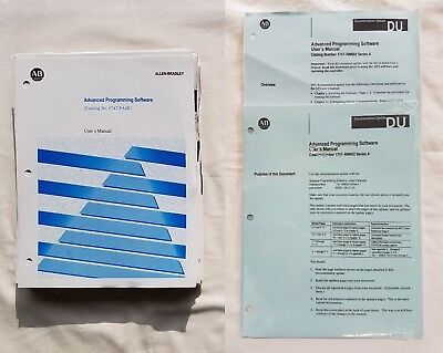 Allen Bradley Advanced Programming Software (APS) User Manual Cat. No. 1747-PA2E