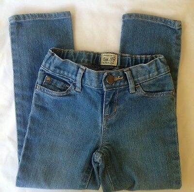 Girls Sz 5 Skinny Blue Jeans Pants The Childrens Place TCP Elastic Waist *