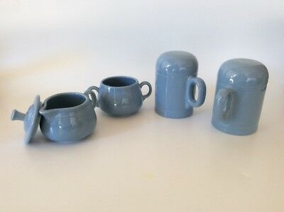 VTG - Fiesta Ware Salt And Pepper Shaker - Light Blue - Creamer & Sugar Jars