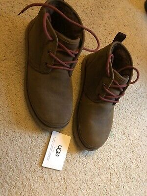 433412d42f0 UGG NEUMEL WATERPROOF Grizzly Sheepskin Chukka Ankle Men's Shoes Size Us 8