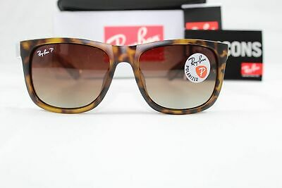 248ab2b54d Ray Ban RB4165 Justin Polarized 865 T5 Tortoise Brown Gradient Lens 54-18