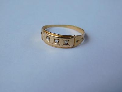 Antique Victorian/ Edwardian 15ct Yellow Gold Diamond Ring.
