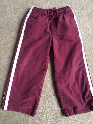 GYMBOREE Pull On Fully Lined Sports Style Pants BURGUNDY Toddler Boy Size 3
