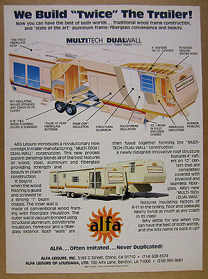 1985 YELLOWSTONE CEVILLE Travel Trailer 4x color photo