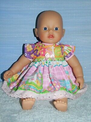 """Dolls Clothes for 13"""" / 32cm LITTLE BABY BORN DOLL~Easter DRESS"""