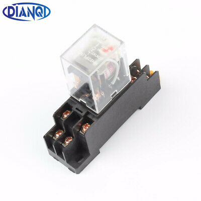 D HH52P Red LED DPDT Electromagnetic Relay JZX-22F 2Z AC 24V Coil 8Pin MY2N-J