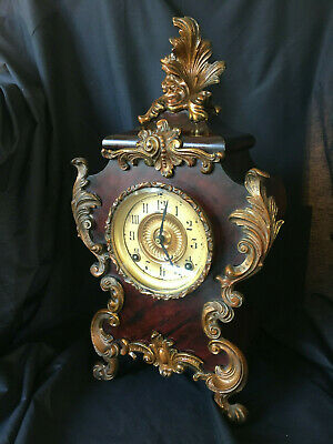 Ansonia mantle clock (Seine), New York, Cast Iron