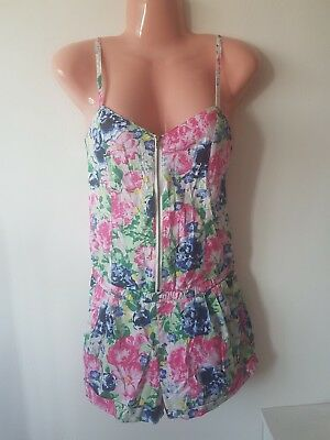 6ad0a76504 Floral Playsuit Size 10 Bright Colours Great Condition From H m