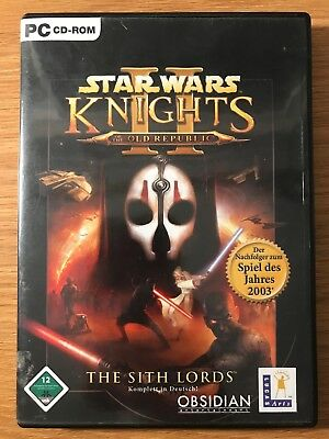 STAR WARS: KOTOR II The Sith Lords Original Xbox Complete Tested