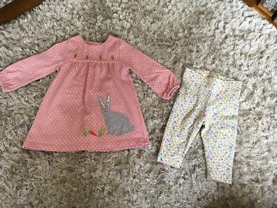 Boden Mini Baby Girls Bunny 2 Piece Set 3-6 Months
