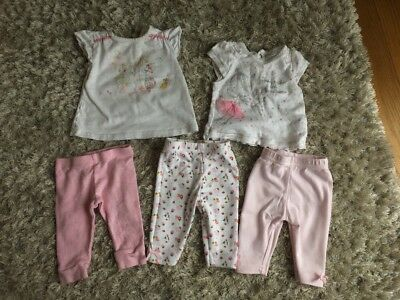Next Tesco F&f Nursery Time Top And Legging Baby Girls 0-3 Months