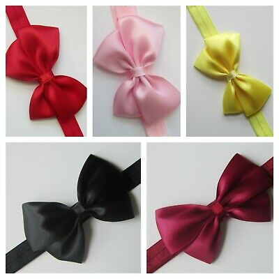 Baby Girl Bow Headband Hairband Soft Elastic Toddler Hair Accessories Prom