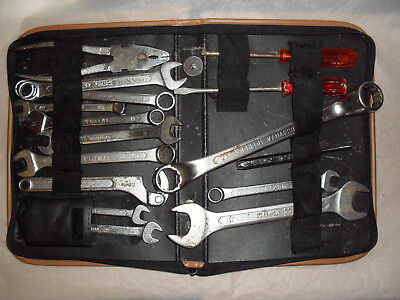 Ferrari Automobile Tool Kit With Beta Tools- All In Leather Zipped Pouch/Bag