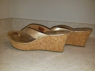 Clothing, Shoes & Accessories Just Prima Florida Heeled Slingback Sandals Natural Cork Brown Size 8m