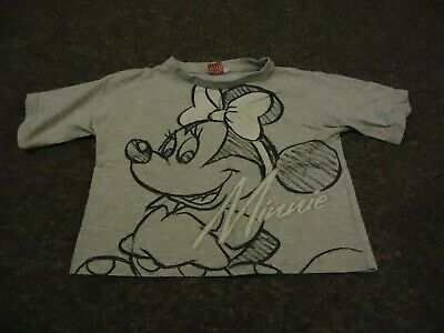 Primark short sleeve Minnie Mouse front print grey t - shirt age: 12/13 years