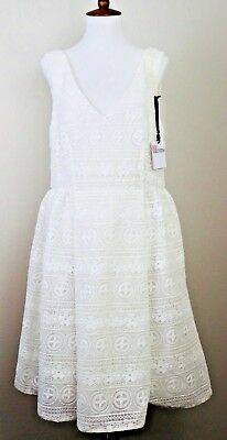 Red Valentino Lace Dress Sleeveless Size 46 Nwt Msrp 750