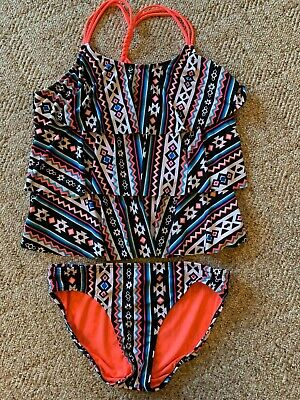 d8c160f53865e6 Justice Girls Junior 2 piece Tankini Swimsuit Size 18-1/2 NWOT Free Shipping