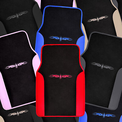 Car Floor Mats 4 Pieces Set Carpet Rubber Backing All Weather Protection