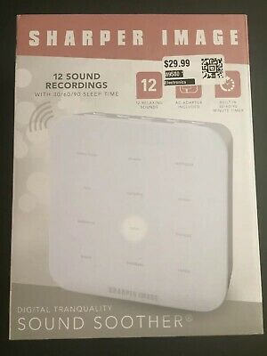 Sharper Image Digital Tranquality Sound Soother 12 Relaxing Sounds