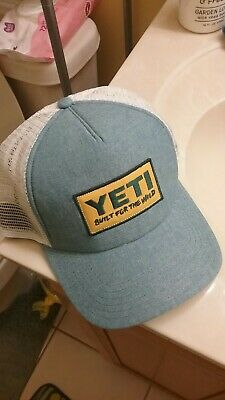 75ee63bb3bcc8 YETI BUILT FOR The Wild Patch Trucker Hat Chambray Blue Snapback One ...
