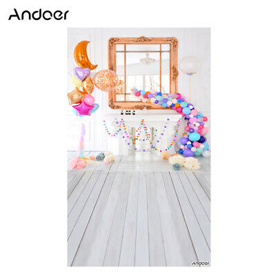 Andoer 1.5 * 0.9m/5 * 3ft Birthday Party Photography Background Balloon E5H4